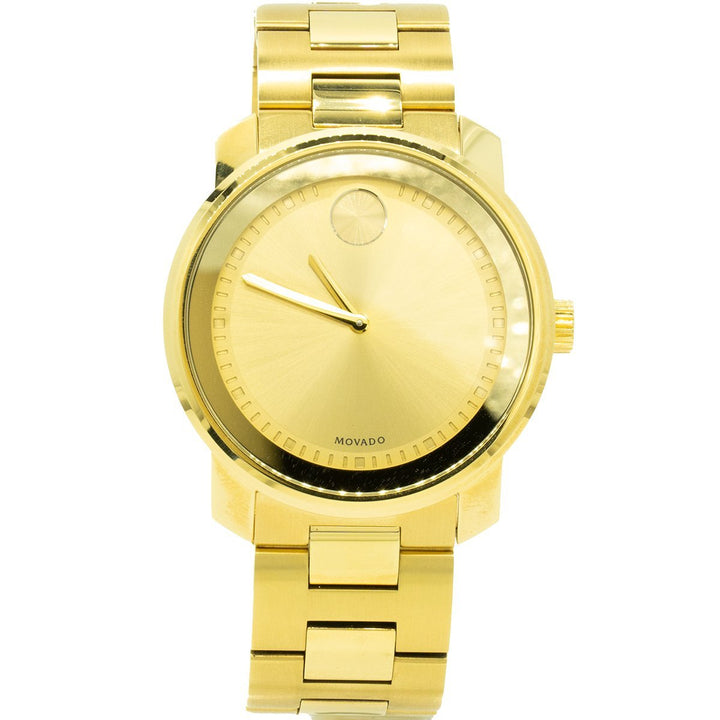Movado Bold 3600258 42mm Gold PVD Stainless Steel Champagne Dial Watch - Giorgio Conti Jewelers
