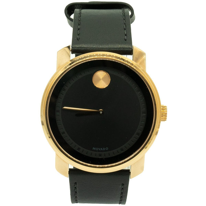 Movado Bold 3600376 42.5mm Rose Gold PVD Black Dial Watch - Giorgio Conti Jewelers
