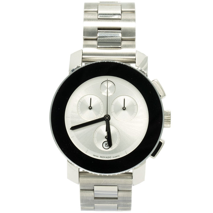 Movado Bold Chronograph 3600075 38mm Stainless Steel Silver Dial Women's Watch - Giorgio Conti Jewelers