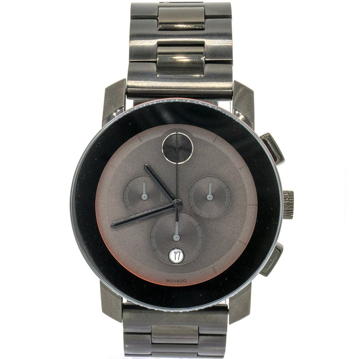 Movado Bold Chronograph 3600142 44mm Stainless Steel Grey Dial Watch - Giorgio Conti Jewelers