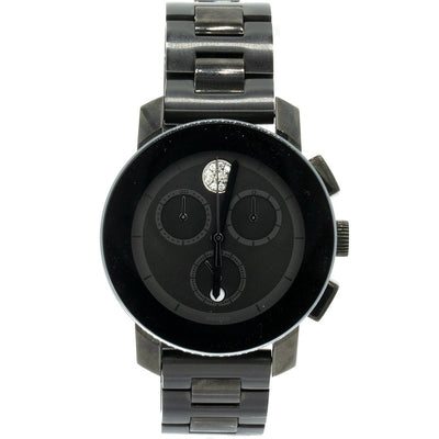 Movado Bold Chronograph 3600143 38mm Stainless Steel Gray Dial Watch - Giorgio Conti Jewelers