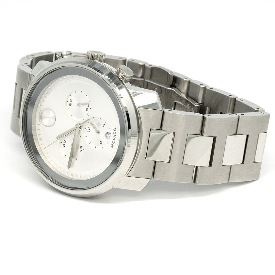 Movado Bold Chronograph 3600276 44mm Stainless Steel Silver Dial Watch - Giorgio Conti Jewelers