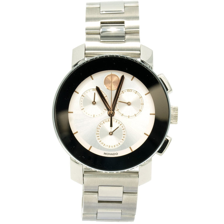 Movado Bold Chronograph 3600356 38mm Stainless Steel Silver Dial Women's Watch - Giorgio Conti Jewelers