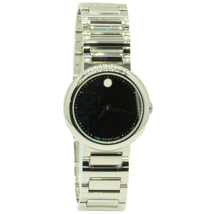 Movado Concerto 0606419 30mm Midsize Stainless Steel Black Dial Watch - Giorgio Conti Jewelers