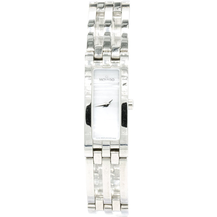 Movado Esperanza Baguette 0604692 14mm Stainless Steel MOP Dial Women's Watch - Giorgio Conti Jewelers
