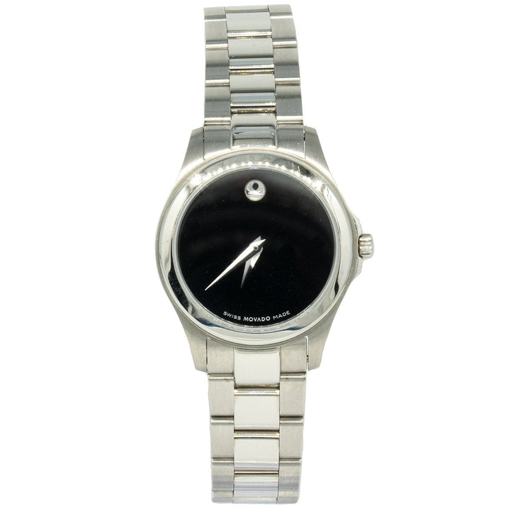 Movado Junior Sport 0605747 26mm Stainless Steel Black Dial Women's Watch - Giorgio Conti Jewelers