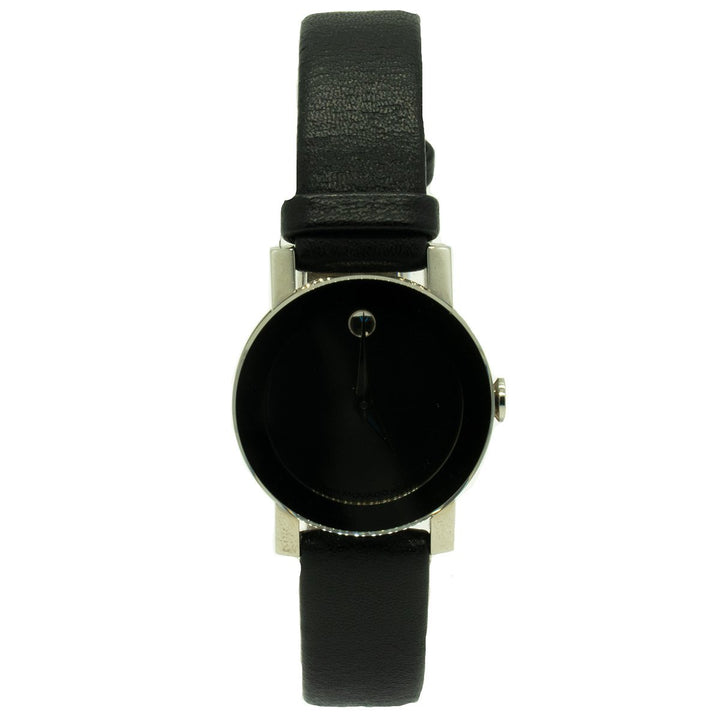 Movado Ladies Sapphire 0604869 26mm Stainless Steel Genuine Leather Mirror Dial Watch - Giorgio Conti Jewelers