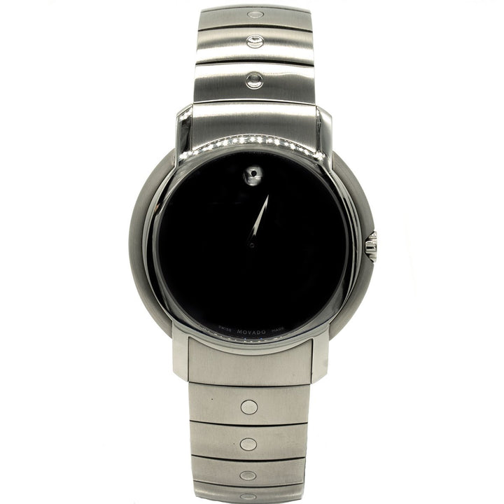 Movado SL 0605641 36mm Stainless Steel Black Dial Watch - Giorgio Conti Jewelers
