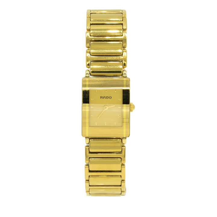 Rado R20383272 Women's Integral 18mm Ceramic Gold Dial Watch - Giorgio Conti Jewelers