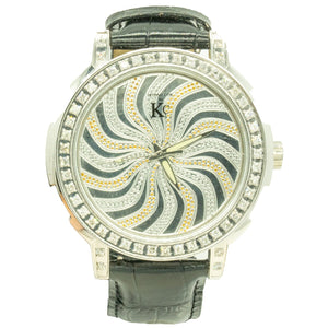 Techno Com. By KC WA001581 55mm Stainless Steel Factory Diamond Spinner Dial Watch - Giorgio Conti Jewelers
