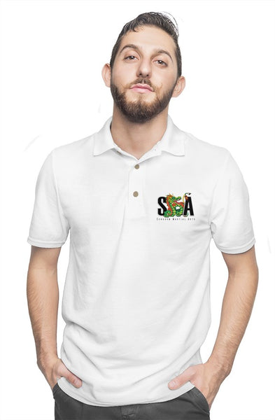 gildan cotton polo