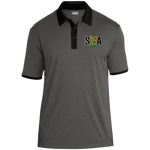 ST667 Heather Contender Contrast Polo