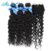 Malaysian Water Wave 3 bundles with Lace Closure