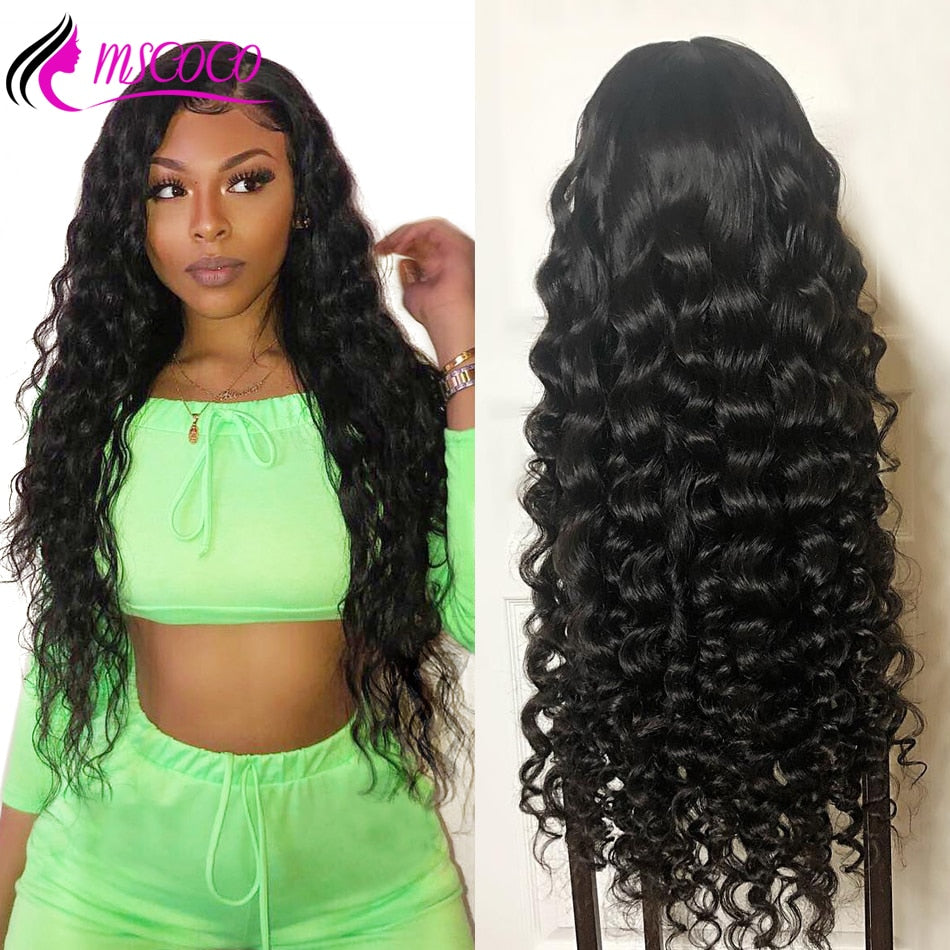 Loose Deep Wave Lace Front Human Hair Wigs Full End Brazilian Curly