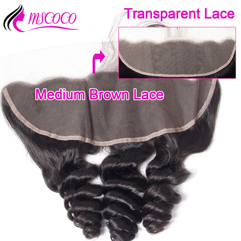 Brazilian Loose Wave Transparent Lace Frontal Ear to Ear HD Lace Frontal Closure