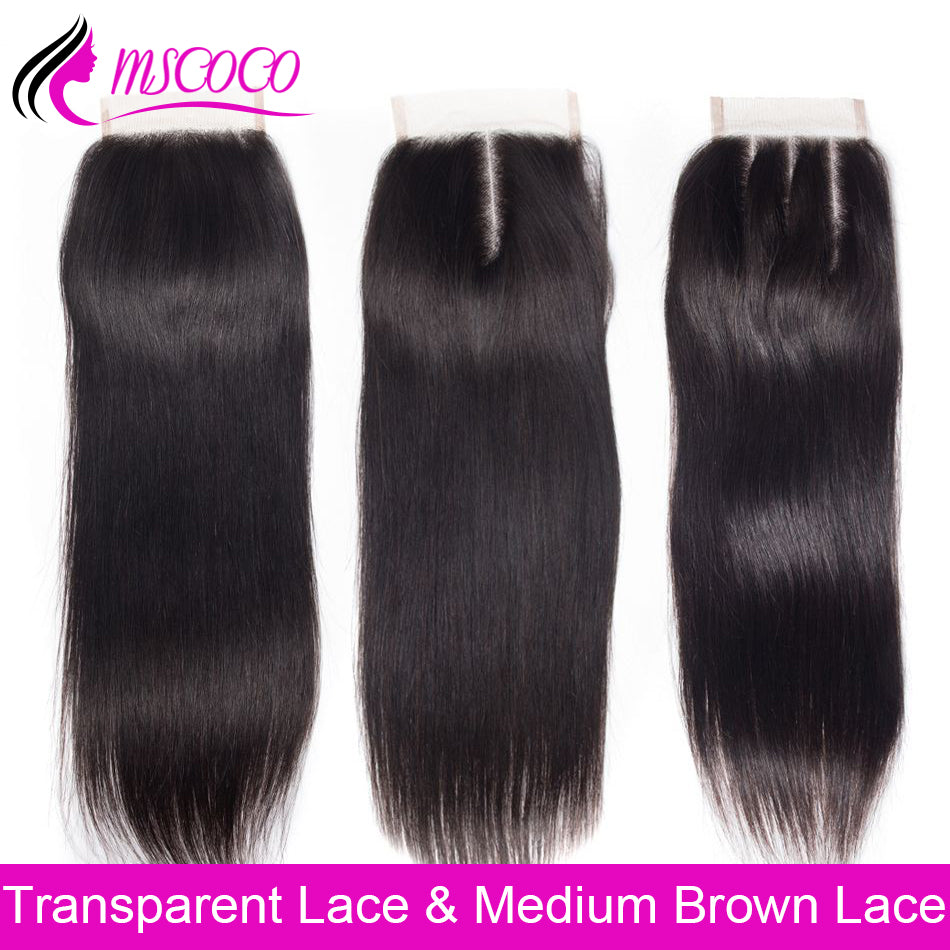 Brazilian Straight Hair HD Transparent Lace Closure