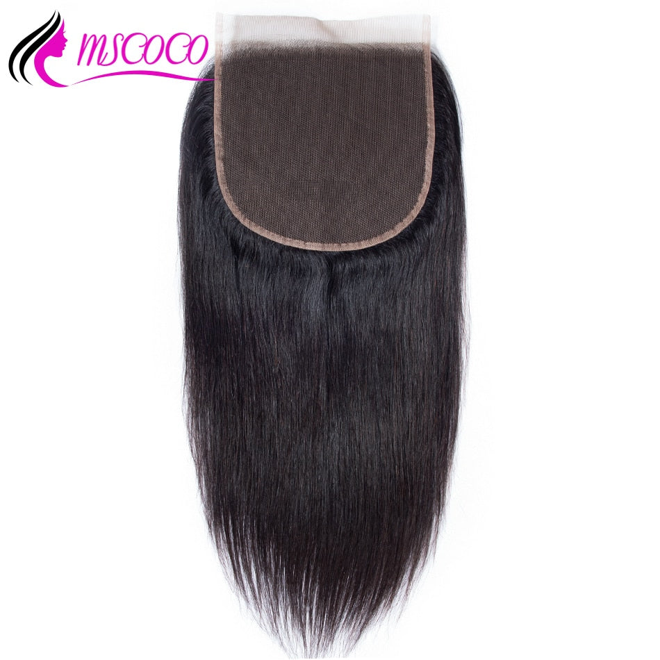 Straight Hair 6x6 Lace Closure Pre Plucked With Baby Hair Natural Hairline