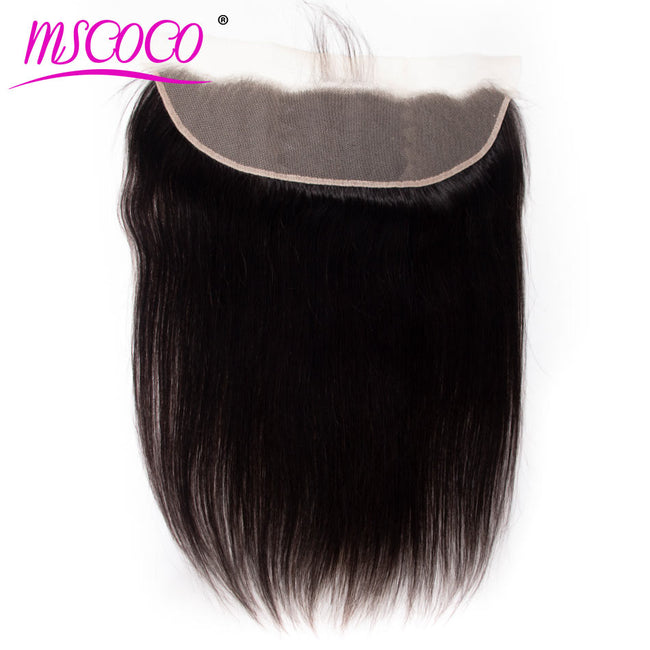 HD Transparent Lace Frontal Closure Brazilian Straight Human Hair Frontal Closure