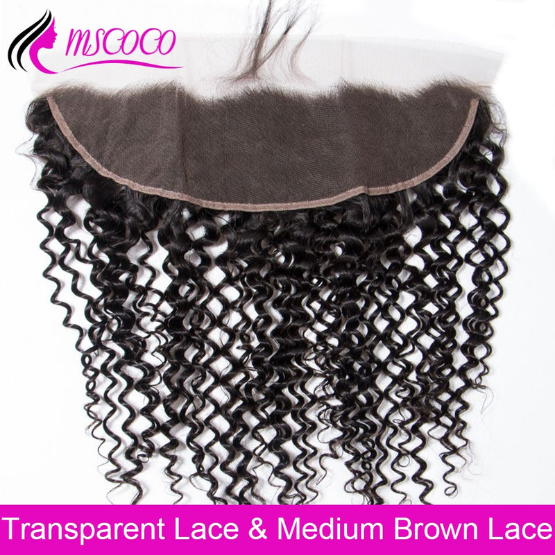 HD Transparent Frontal Closure Brazilian Curly Lace