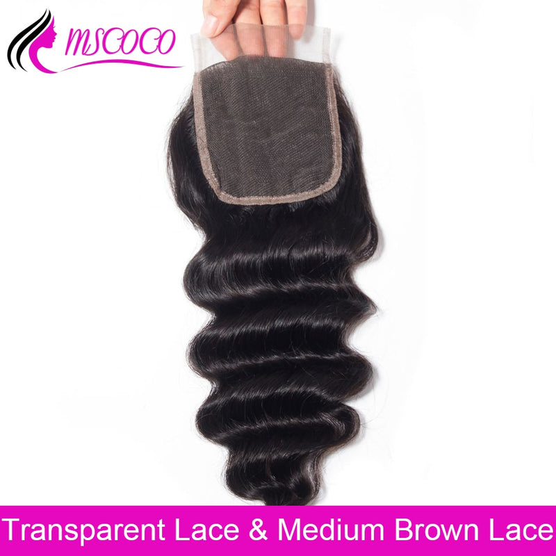 HD Transparent Lace Closure Loose Deep More Wave