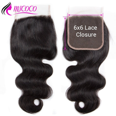 Body Wave 6x6 Closure Pre Plucked With Baby Hair Natural Hairline