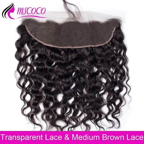 Brazilian Water Wave Lace Frontal Closure 13X4 HD Transparent Lace  Pre Plucked