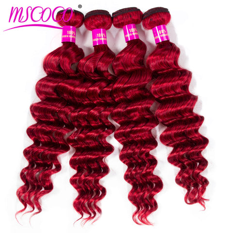 1/3/4 Pcs Hair Bundles Brazilian Loose Deep Hair