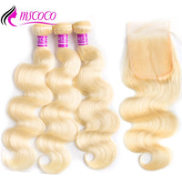 Mscoco Body Wave 613 Bundles With Closure Remy