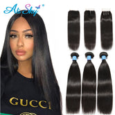 Peruvian Straight Human Hair 3 Bundles