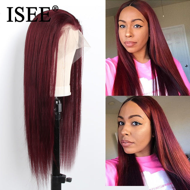 Indian 99j Straight Lace Front Wig