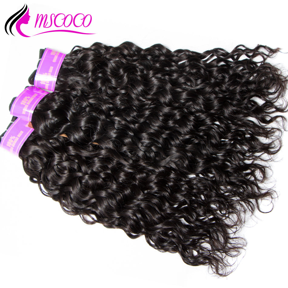 Brazilian Water Wave 3 Bundles With Closure