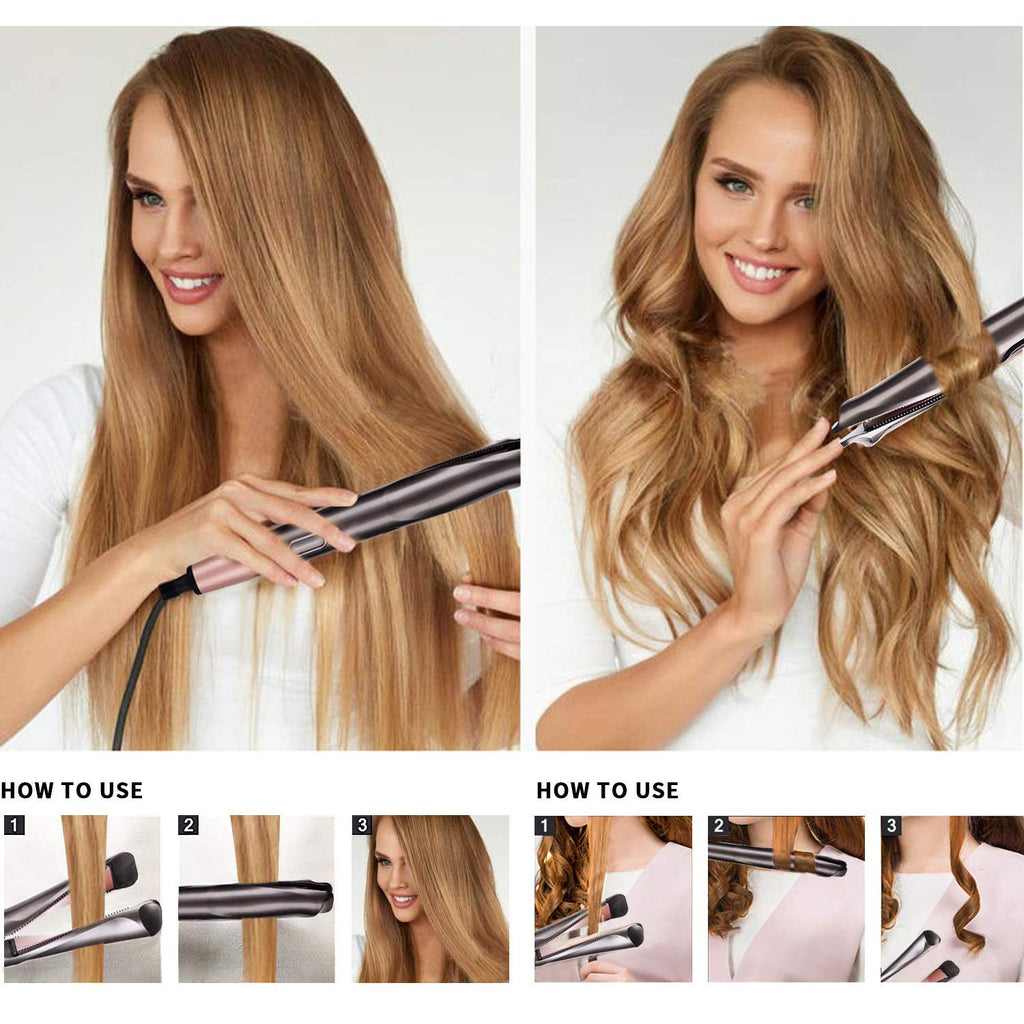 2-in-1 Twist Straightening Curling Iron