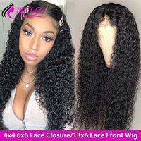 Curly Lace Front Wig 6x6 Lace Closure