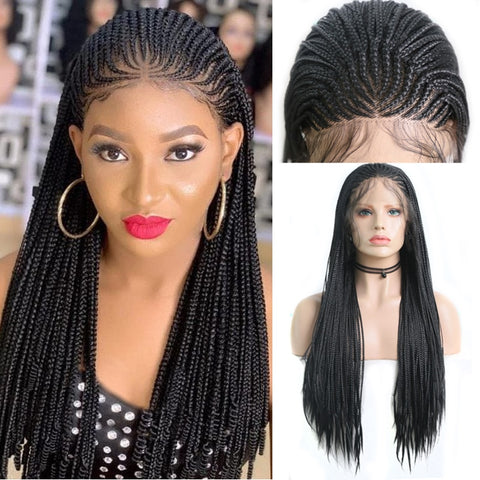 Long Box Braided Wigs