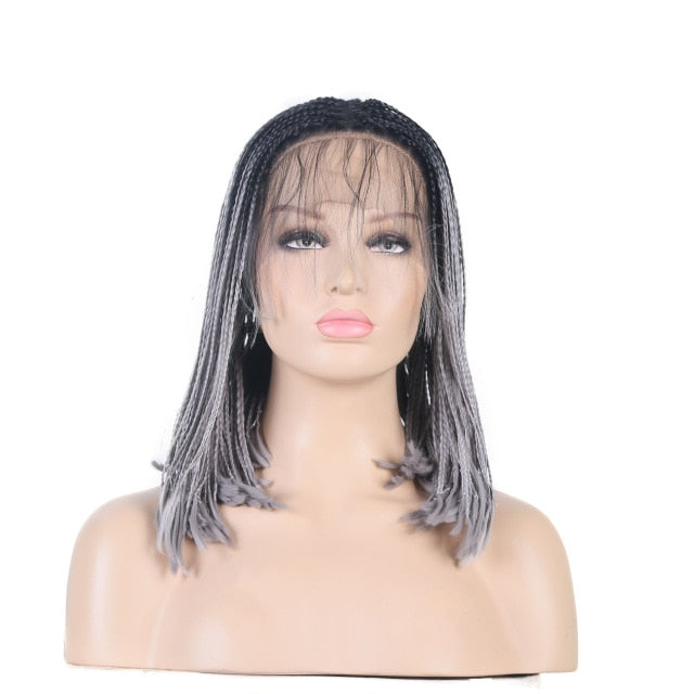 Micro Box Short Bob Braids Wig