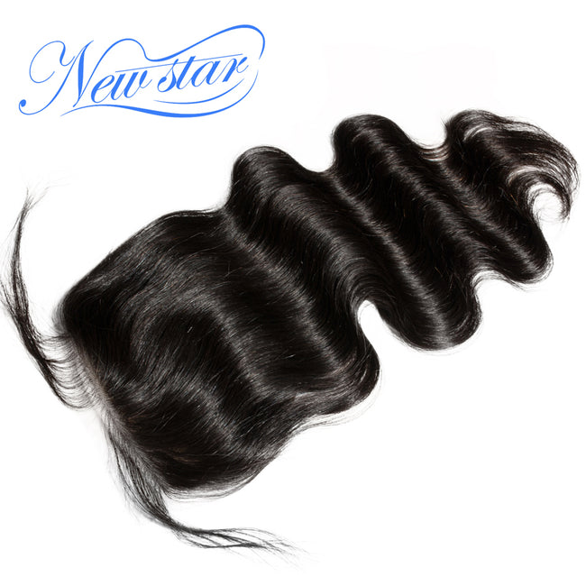 Virgin Hair Body Wave 3 Bundles With Lace Closure