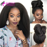 Kinky Straight Glueless Lace Front  Wigs