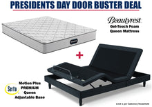 Load image into Gallery viewer, Beautyrest Queen Gel-Touch Mattress and Serta Motion Plus Adjustable Base