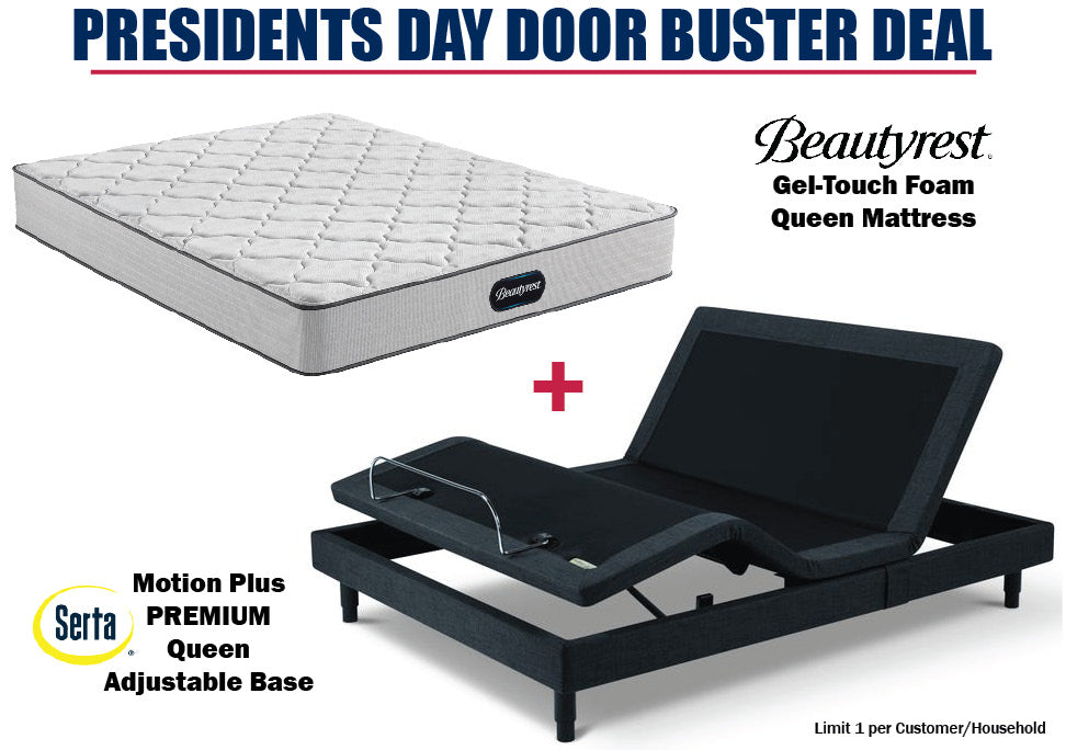 Beautyrest Queen Gel-Touch Mattress and Serta Motion Plus Adjustable Base
