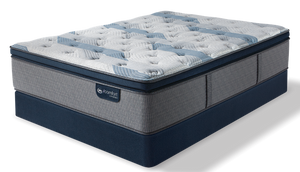 iComfort Hybrid - Blue Fusion 300 Plush Pillow Top Mattress - Floor Model Closeout - Queen