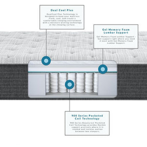 Beautyrest Silver - BRS900 Plush Mattress
