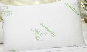 Bamboo Memory Foam Pillow - Queen Size