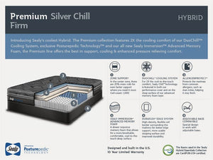 Sealy Posturepedic Hybrid - Premium Collection - Silver Chill Firm Mattress