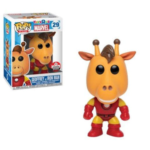 Funko Pop! Ad Icons: Toys R Us Geoffrey as Iron Man #29 - 2018 Canadian Convention Exclusive - Hyped Goods, New Jersey