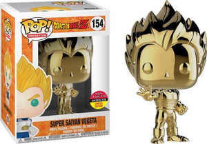 Funko Pop! Animation: DBZ SS Vegeta Gold Chrome #154 - Toy Tokyo Exclusive - Hyped Goods, New Jersey