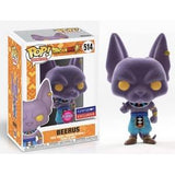 Funko Pop! Animation: Flocked Beerus #514 - Funimation Exclusive - Hyped Goods, New Jersey