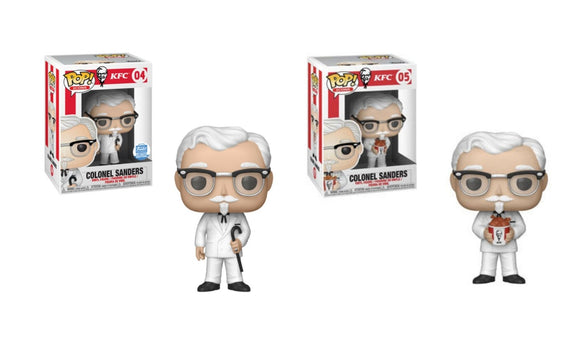 Funko Pop! Icons: KFC - Colonel Sanders w/ Cane Funko Shop Exclusive & With Chicken Bucket Common - Hyped Goods, New Jersey