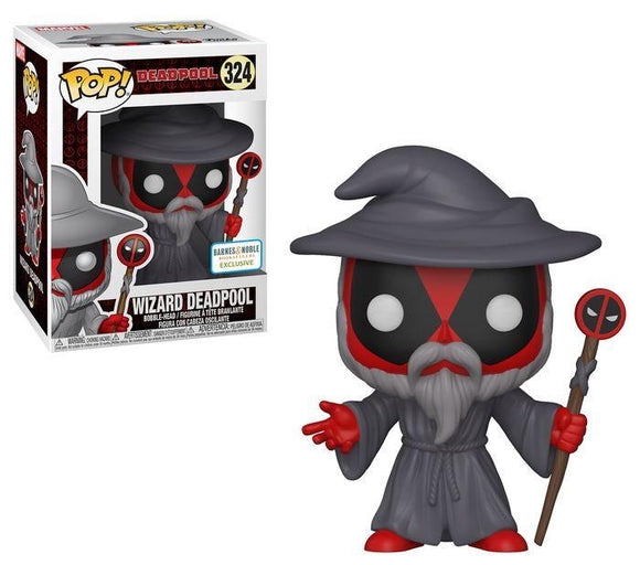 Funko Pop! Marvel Deadpool: Wizard Deadpool #324 - Barnes & Noble Exclusive - Hyped Goods, New Jersey