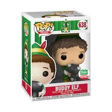 Funko Pop! Movies: Buddy the Elf with Racoon Christmas Edition #638 - Funko Shop Exclusive - Hyped Goods, New Jersey