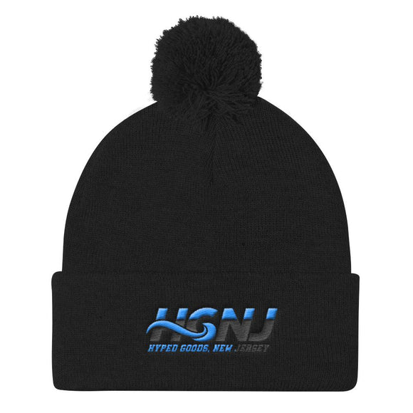 HGNJ 2-Tone Pom Pom Knit Hat - Hyped Goods, New Jersey